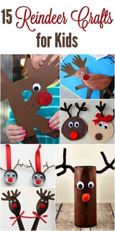 Are you looking for a very simple and easy reindeer craft to make this holiday season? Check out these 15 Easy Reindeer Crafts For Kids that are perfect for children of ages including preschoolers and toddlers. With a few simple craft supplies and a bot Christmas Crafts For Kids To Make, Preschool Christmas, Christmas Activities, Xmas Crafts, Kids Christmas, Fun Crafts, Simple Crafts, Spring Crafts, Decor Crafts