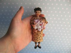 OOAK old Lady 13,5cm Beweglich Puppenstube 1:12 MINIATURE art doll 12th scale  http://www.ebay.de/usr/mam-m-mi
