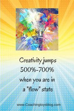 """Cool fact! Learn more in my recent blog post """"Myths of Creative Time"""" www.coachingtoysblog.com"""