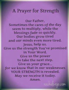 ~A Prayer For Strength~