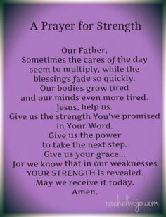 ~A Prayer For Strength~