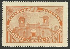 B09-23 CANADA 1937 CNE Philatelic Exhibition Toronto MNH orange