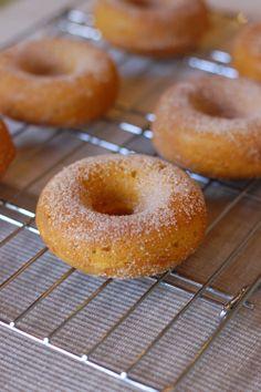 Mini-Pumpkin Doughnuts