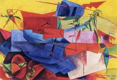 Fish fight, 1917 - Max Ernst