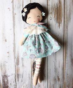 "Handmade Rag Doll - SpunCandy Dolls ~ Omaha, NE (@spuncandydolls) on Instagram: ""Sweet, sweet girl ❤ I love her eclectic mix of fabrics #availablenow #readytoship #spuncandydolls…"""