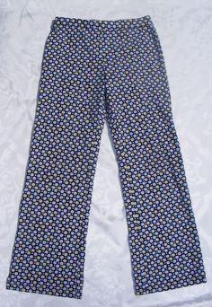 GYMBOREE Printed Pants, Navy Blue Polkadot Petite Mademoiselle Cotton Spandex, 8 #Gymboree #CasualPants