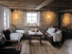 modern stone.and.wood.farmhouse - Google Search