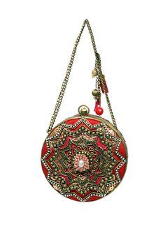 Meera Mahadevia Elegant Floral Design Clutch