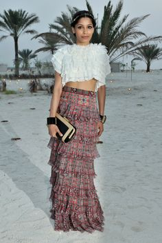 Freida Pinto - Front Row at Chanel Resort 2015