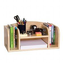 Guidecraft Desk Organizer Low Natural