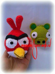 Pig and angry bird