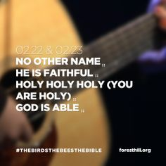 Worship set for 2.22 & 2.23 // No Other Name // He Is Faithful // Holy Holy Holy (You Are Holy) // God Is Able // Made with @mexturesapp #mexturesapp #sundaysetlist