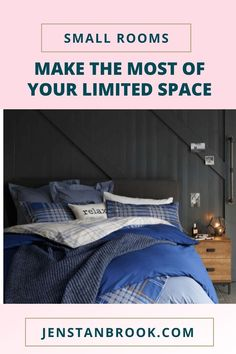 Tips, ideas and advice on how to make a small bedroom look bigger. From the layout, to storage ideas, to organization. Ideal for boho, teenage, cozy, minimalist or couples, there is something for everyone. #lovechicliving