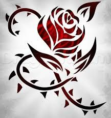 Image result for rose and thorn sketch tattoo