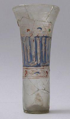 14th century I Glass Beaker I Syria I Glass, enameled