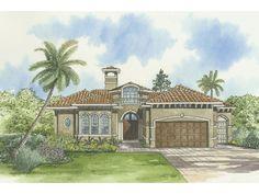 Mediterranean Courtyard House Plans | Marion Oaks Mediterranean Home