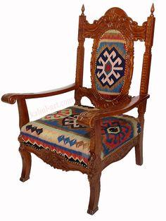 luxuriöse orient Afghan kelim stuhl Sessel sofa couch kilim armchair furniture K