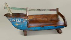 Fairtrade Boat Sofa from reclaimed wood