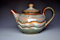 Rose Plum Teapot Handmade Pottery A by darshanpottery on Etsy, $120.00