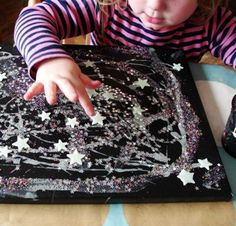 Sun Hats & Wellie Boots: A Glowing Starry Night picture. try this as a glow in the dark gel bag Space Activities, Outdoor Activities For Kids, Sleepover Activities, Sleepover Party, Spa Party, Preschool Themes, Preschool Crafts, Space Preschool, Art For Kids
