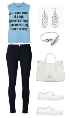 """Untitled #1575"" by mina1924 ❤ liked on Polyvore featuring moda, Frame Denim, Topshop, Vans i Vince Camuto"