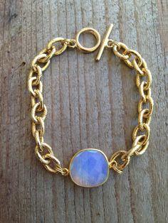 Opaline Pierre Bracelet avec chaîne d'or de la bande - BG01 on Etsy, 46,68€