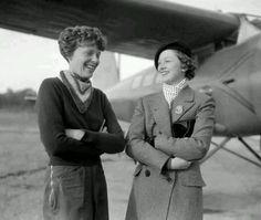 Amelia and Myrna Loy
