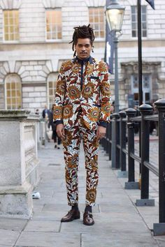 African fashion, mens suit, london street fashion, dent de man