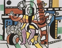 TICMUSart: Dancer the dog (The dog on the ball, Study for the Grande Parade) - Fernand Léger (1952) (I.M.)