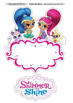 Birthday Party At Park, 4th Birthday Parties, Frozen Invitations, Birthday Invitations, Shimmer And Shine Characters, Shimmer And Shine Cake, Birthday Template, Birthday Cake Toppers, Party Supplies
