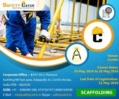 #ScaffoldSafety #courses for erectors, inspectors and #safety personnel. Contact us for more info: http://bit.ly/Scaffolding-Courses