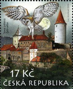 Sello: Křivoklátsko - Tyto alba (República Checa) (Protection of Nature) Mi:CZ 606,AFA:CZ 608,POF:CZ 607
