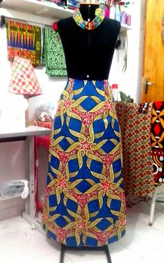 Moda artesanal - tecido africano - Rafa Que Faz