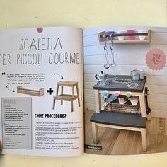 WEBSTA @ mommodesign - Un altro mio progetto su libro Reinventare Ikea #ikeahack #ikeahacks #playkitchen #kids #diy #diytoy #ikea