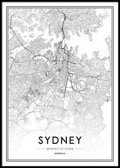Sydney Poster in der Gruppe Poster / Größen und Formate / 50x70cm bei Desenio AB (2055)