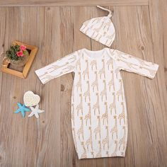 Giraffe Dreamin' Dress Pajamas With Matching Headband from kidspetite.com!  Adorable & affordable baby, toddler & kids clothing. Shop from one of the best providers of children apparel at Kids Petite. FREE Worldwide Shipping to over 230+ countries ✈️  www.kidspetite.com  #boy #baby #clothing #infant #pajamas #newborn Giraffe Pattern, Giraffe Print, Sleeping Gown, Baby Girl Pajamas, Hat Size Chart, Fabric Combinations, Daddys Little, Coming Home Outfit, 2 Piece Outfits