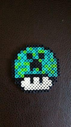 Creeper Mushroom Perler Beads by ThePerlerDojo