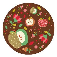 Stickers - Cocotte en papier - Magnet pomme de reinnette