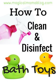 How to: clean and disinfect bath toys – Unique Baby Bathing Diy Bath Toys, Cleaning Bath Toys, Diy Toys, Cleaning Hacks, Cleaning Products, Baby Tub, Thing 1, Water Toys, Working Moms