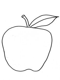 Omalovánky K Vytisknutí Jablko