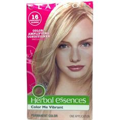 Clairol Hair Color Dye Color Me Vibrant Herbal Essences Permant Color 16 Knockout Blonde 1 Box -- Check out the image by visiting the link. (This is an affiliate link and I receive a commission for the sales)