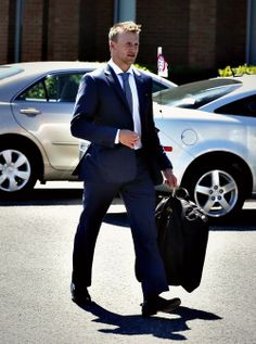 Steven Stamkos attends the funeral service for France St. Louis, mother of New York Rangers hockey player Martin St. Louis on Sunday