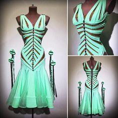 Stand out colour Latin Dress corset styling - Abraham Martinez Latin Ballroom Dresses, Ballroom Dancing, Latin Dresses, Dance Outfits, Ladies Dress Design, Dance Wear, New Dress, Gowns, Mental Health
