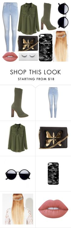 """""""Café"""" by susanna-trad ❤ liked on Polyvore featuring YEEZY Season 2, H&M, WithChic, Gucci, Mr. Gugu & Miss Go, John Lewis and Lime Crime"""