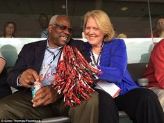 Clarence Thomas (left) was nominated to be on the Supreme Court in 1991 and 'court watchers' say that he has no plans to die on the bench, rather preferring to retire and spend more time with his wife Ginni (right)