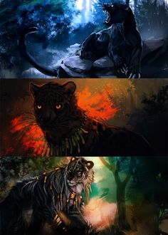 """Junglecat speedpaints"" (Tatchit, 2014)"