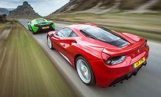 Ferrari 488 GTB versus McLaren 650S - supercars in comparison