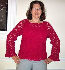 Ravelry: Floral Fantasy Pullover pattern by Heather Carlson
