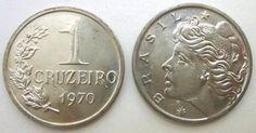 Moeda brasileira de um cruzeiro 1970