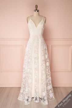 Maylee Cream & White Floral Bridal Gown | Boudoir 1861